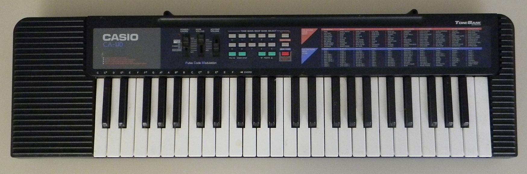 casio keyboard ca 110